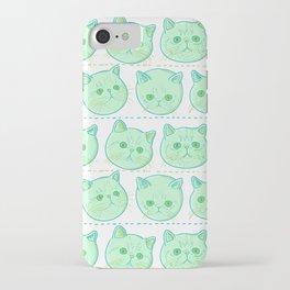 Exotic shorthair cat pattern iPhone Case
