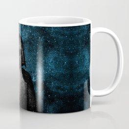 Darth Vader with Lightsaber in Galaxy Coffee Mug
