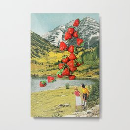 Strawberry Avalanche Metal Print