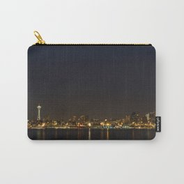 The Seattle, Washington skyline at night Carry-All Pouch