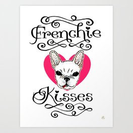 Frenchie Kisses Art Print