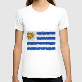 Extruded flag of Uruguay T-shirt