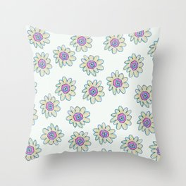Daisy Chain #1 Throw Pillow