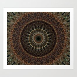 Mandala in brown tones Kunstdrucke
