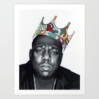 notorious big Art Prints featuring Notorious by Jared Yamahata