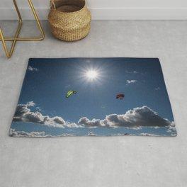 kite surf in the sunshine Rug