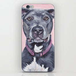 Pitbull Painting, Black Pit Painting iPhone Skin