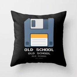 Old School Computer Floppy Diskette Throw Pillow