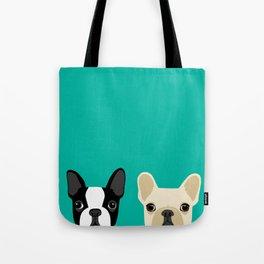 Boston Terrier & French Bulldog 2 Tote Bag
