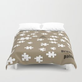 Image designed with caricature style to be used as a pattern. Break the rules and patterns Duvet Cover