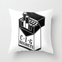 Cig-regrets Throw Pillow