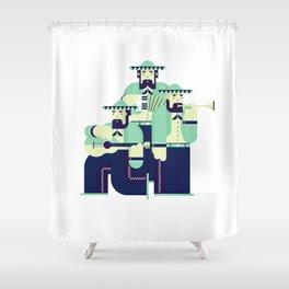 Mariachi Band Shower Curtain