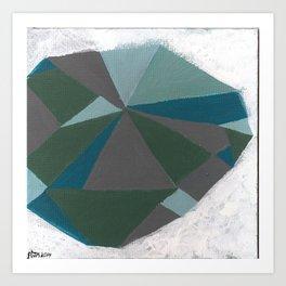 Strange Craft - Abstract Geometric painting by Hannah Morris Art Print