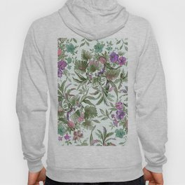 mint tropical floral Hoody