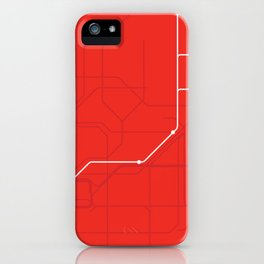 London Underground Central Line Route Tube Map iPhone Case