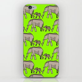 The elephants walk in two by two. Hurray! Hurray! iPhone Skin