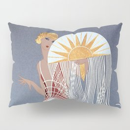 "1920's Art Deco Design ""The Flapper"" Pillow Sham"