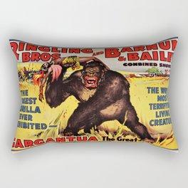 1938 Ringling Brothers and Barnum & Bailey Big Top 'GARGANTUA the Great' Circus Poster Rectangular Pillow