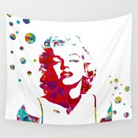 monroe Wall Tapestries featuring MONROE by Bianca Lopomo