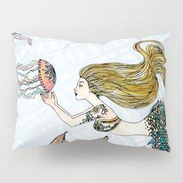 Jellyfish and Mermaid Pillow Sham