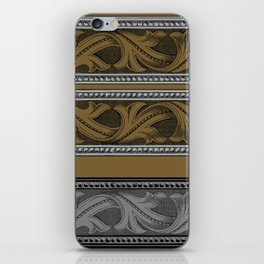Fret Stripe in Black and Brown iPhone Skin