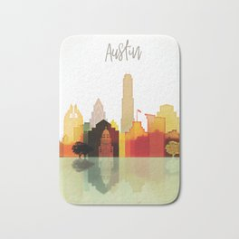 Austin colorful skyline Bath Mat