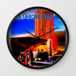 Within Union Station LA (The Dark Side of Art) by Jeronimo Rubio Photography 2016 Wall Clock