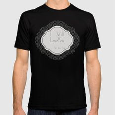 Till the End Black SMALL Mens Fitted Tee