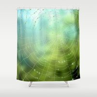 spider Shower Curtains featuring spider by Antracit