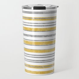 Sun Kissed Stripes: Silver and Gold Travel Mug