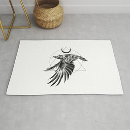 THE RAVEN AND THE MOON Rug