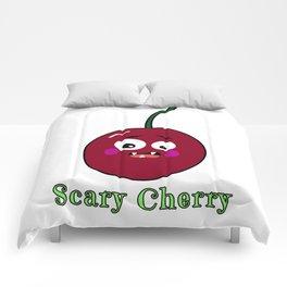 Halloween Scary Cherry Fruit Costume Vegan Vegetarian Comforters
