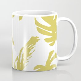 Simply Mod Yellow Palm Leaves Coffee Mug