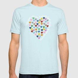 Hearts Heart Teacher Black T-shirt