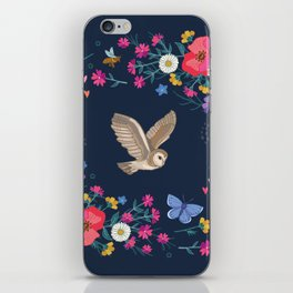 Owl and Wildflowers iPhone Skin