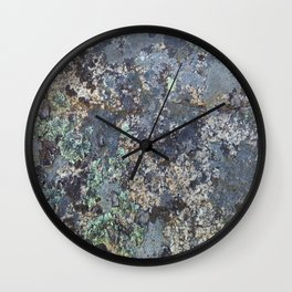 Mossy Rock Wall Clock