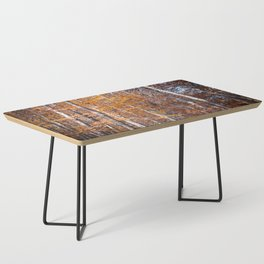 Golden brown leaves Coffee Table