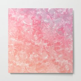 Rose & Gold Mother of Pearl Texture Metal Print