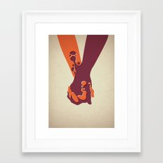 When Two Become One - Hands Framed Art Print