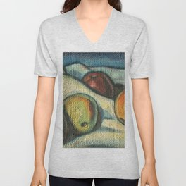 Fruit oil painting Unisex V-Neck