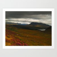 nan lawson Art Prints featuring Coire Spidean nan Clach by Steve Watson