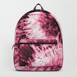 Soft Pink Red Black Tie Dye // Painted Multi Media Textured Acrylic Canvas Painting Backpack