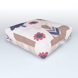 Scandinavian Winter Pattern Beige #society6 #buyart Outdoor Floor Cushion