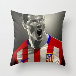 Fernando Torres - Atlético Madrid Throw Pillow