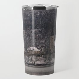 Bled Island Dusted With Snow Travel Mug