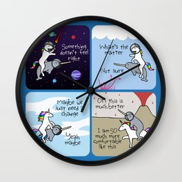 Not Quite Right (Horned Warrior Friends) Wall Clock