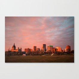 Minneapolis Sunset Canvas Print