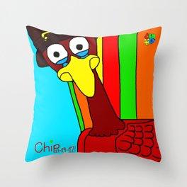 Sad Thanksgiving Turkey Throw Pillow