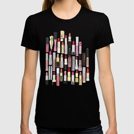 Lipsticks Makeup Collection Illustration T-shirt