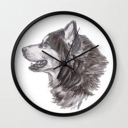 Gotta draw the Husky Doggie Wall Clock